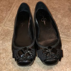 Used Jessica Simpson jewel flats Lepolia